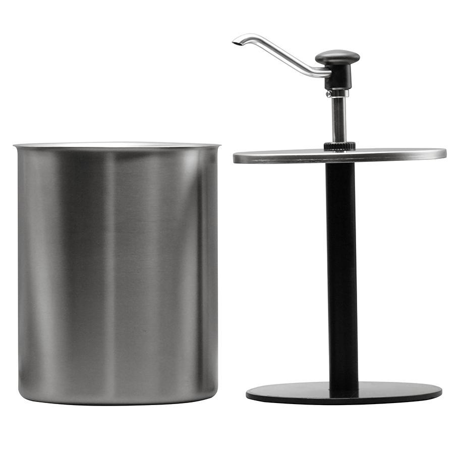 Push Button Dispenser Pressure Disc Stainless Steel Container