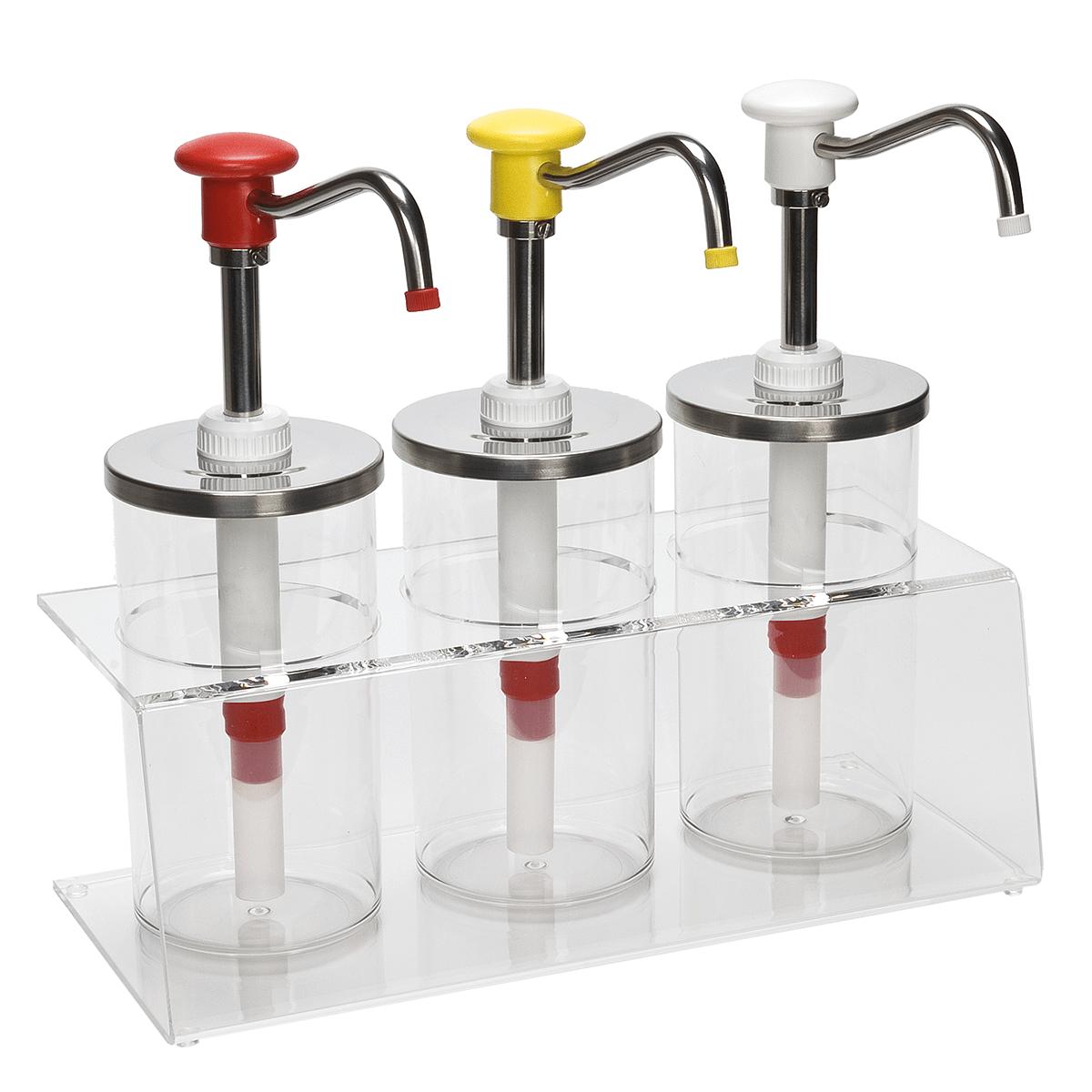 Plexiglas Dressing Bar Push Button Dispensers
